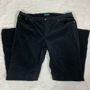 Ralph Lauren Black Corduroy Pants, Size 18
